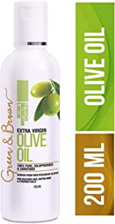 Green & Brown Olive Oil Extra Virgin For Hair, Skin and Face Massage Specialist, White, 200 ml