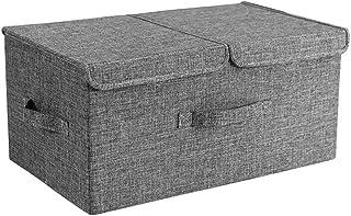Boîte De Rangement Pour Vêtements En Tissu Avec Poignées Paniers De Rangement Pliants Pour La Maison Contenants De Finitio...