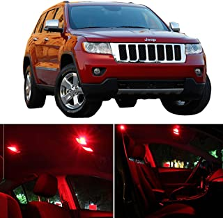 SCITOO Fits For Jeep Grand Cherokee 2011-2017 Interior LED Light 14 Pcs Red Package Kit Replacement Bulbs