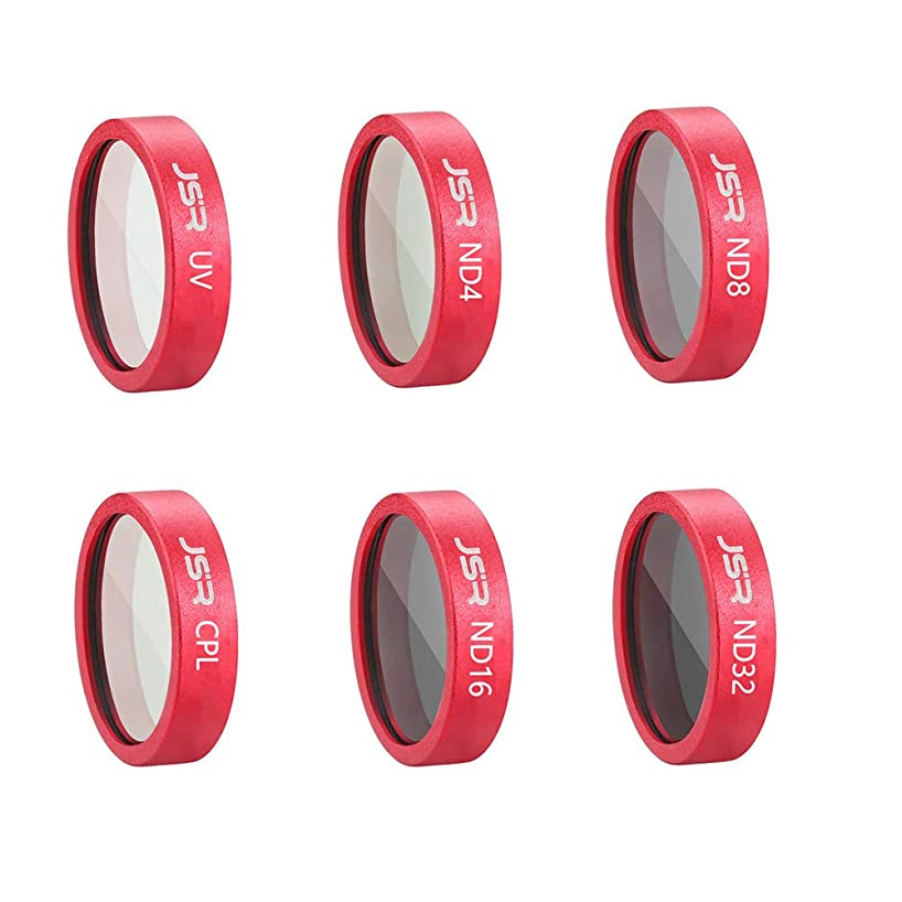 Pausseo 6-Pack Waterproof Camera Lens Filters Set - 6 in 1 Filter Compatible DJI Mavic - UV CPL ND4 ND8 ND16 ND32