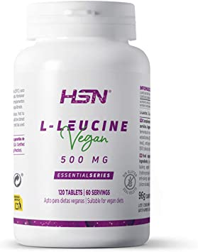 L-Leucina de HSN   2000mg por Dosis Diaria   Aminoácido Esencial   Suplemento Deportivo Recuperador Muscular y Ganar Masa Muscular   100% Vegano, Sin ...