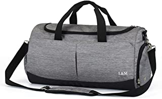 Foldable Gym Bag Lightweight Travel Bag with Shoes Compartment and Wet Dry Storage Waterproof & Durable Duffel Bag Fitness Bag