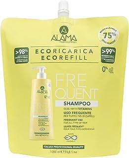 Alama professional Eco Refill Frequent Shampoo Uso Frequente Per Tutti I Tipi Di Capelli, Giallo