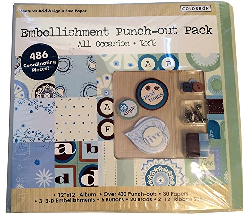 """Colorbok Embellishment Punch-out Pack All Occasion 12""""x12"""" Album"""