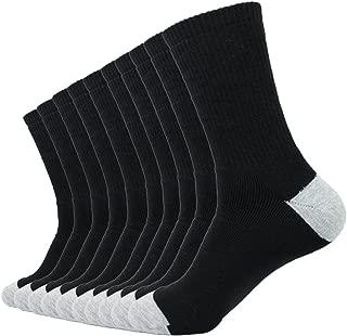 Threads4Treads|10 Pack Moisture Wicking Mens Athletic Socks Cotton Mens Work