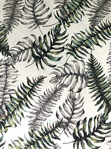 De'Carpet Mantel Antimanchas Plastificado Hule Helechos (140 Redondo)