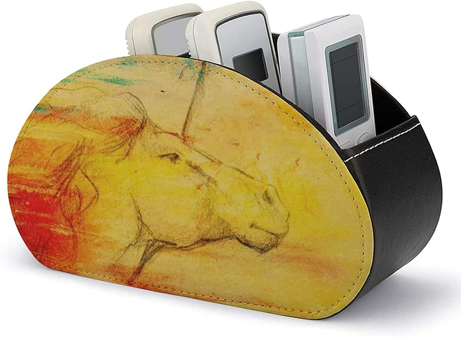 Ranking TOP9 PU Leather Remote Control Holder Drawing Vint Colorful Fashionable Organizer