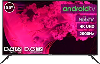 """Television LED 55"""" INFINITON 4K Smart TV-Android TV ("""