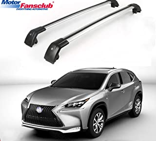 BRIGHTLINES Steel Cross Bars Roof Rack with Lock System for 2007-2015 Lexus RX350