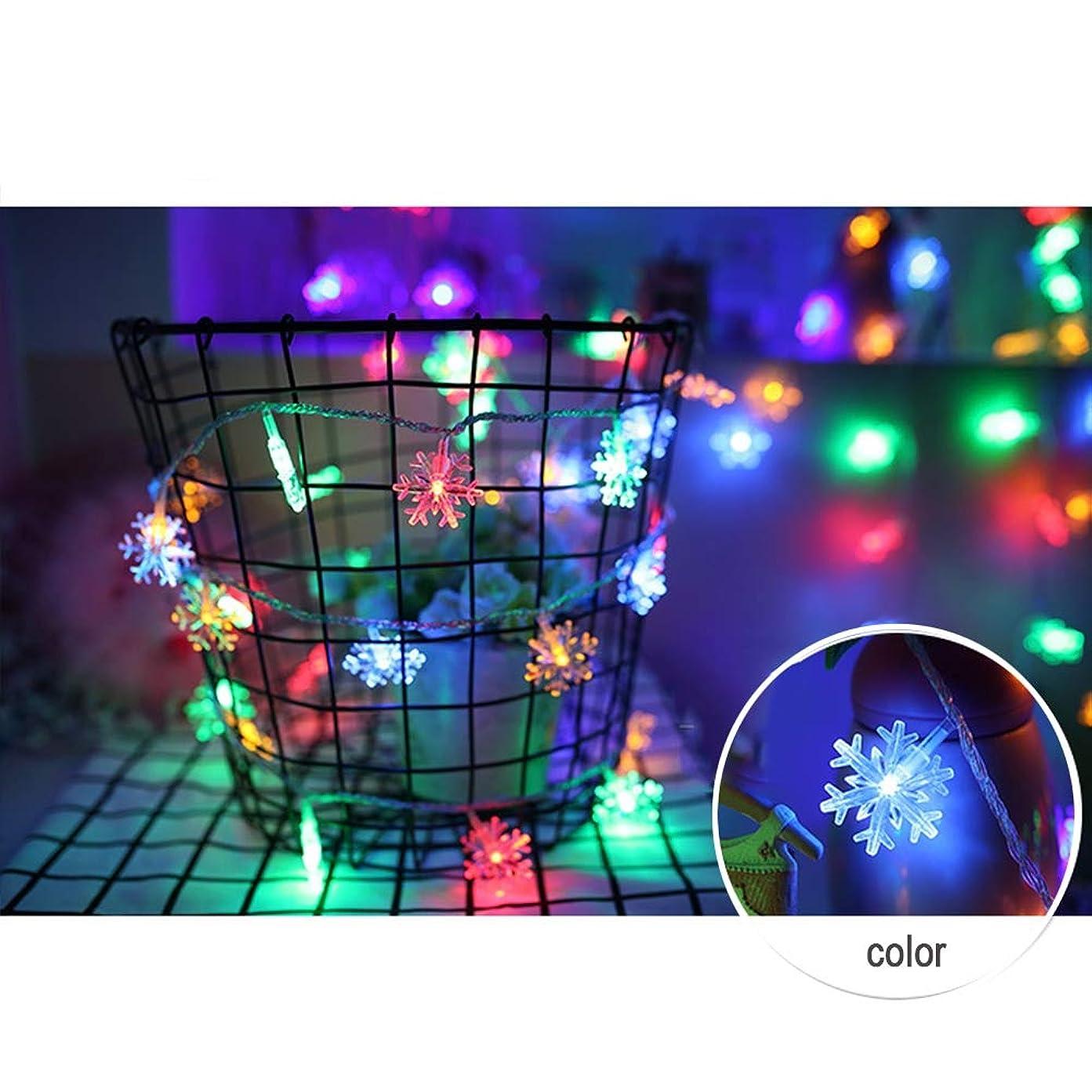 マーク概してインシュレータ電池式 ストリングライト - 防雨型 スノーフレークLEDイルミネ ーションライト ロマンチックな雰囲気を作る屋外用 ワイヤーライト イルミネーションライト、庭、パティオ、バルコニ、ークリスマス