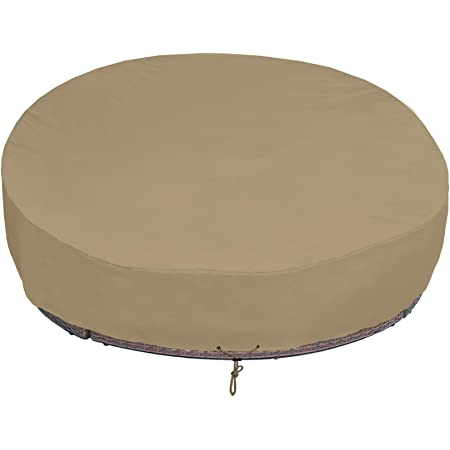 Sunpatio Outdoor Daybed Cover Waterproof Round Canopy Day Bed Cover With Taped Seam Patio Furniture Sofa Cover Heavy Duty Fadestop Material All Weather Protection 75 Dia X 35 16 H Taupe Kitchen