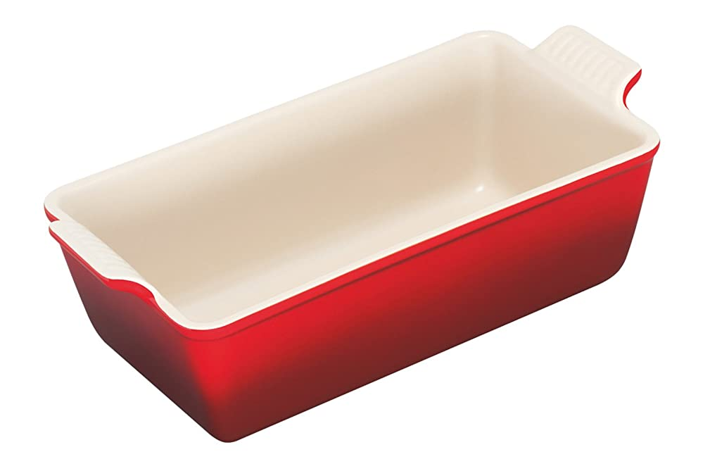 Le Creuset Heritage Stoneware 1 1/2qt Loaf Pan, Cerise (Cherry Red)