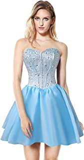 Charmian Women's Gorgeous Crystal Short Sweet 16 Homecoming Cocktail Prom Gowns