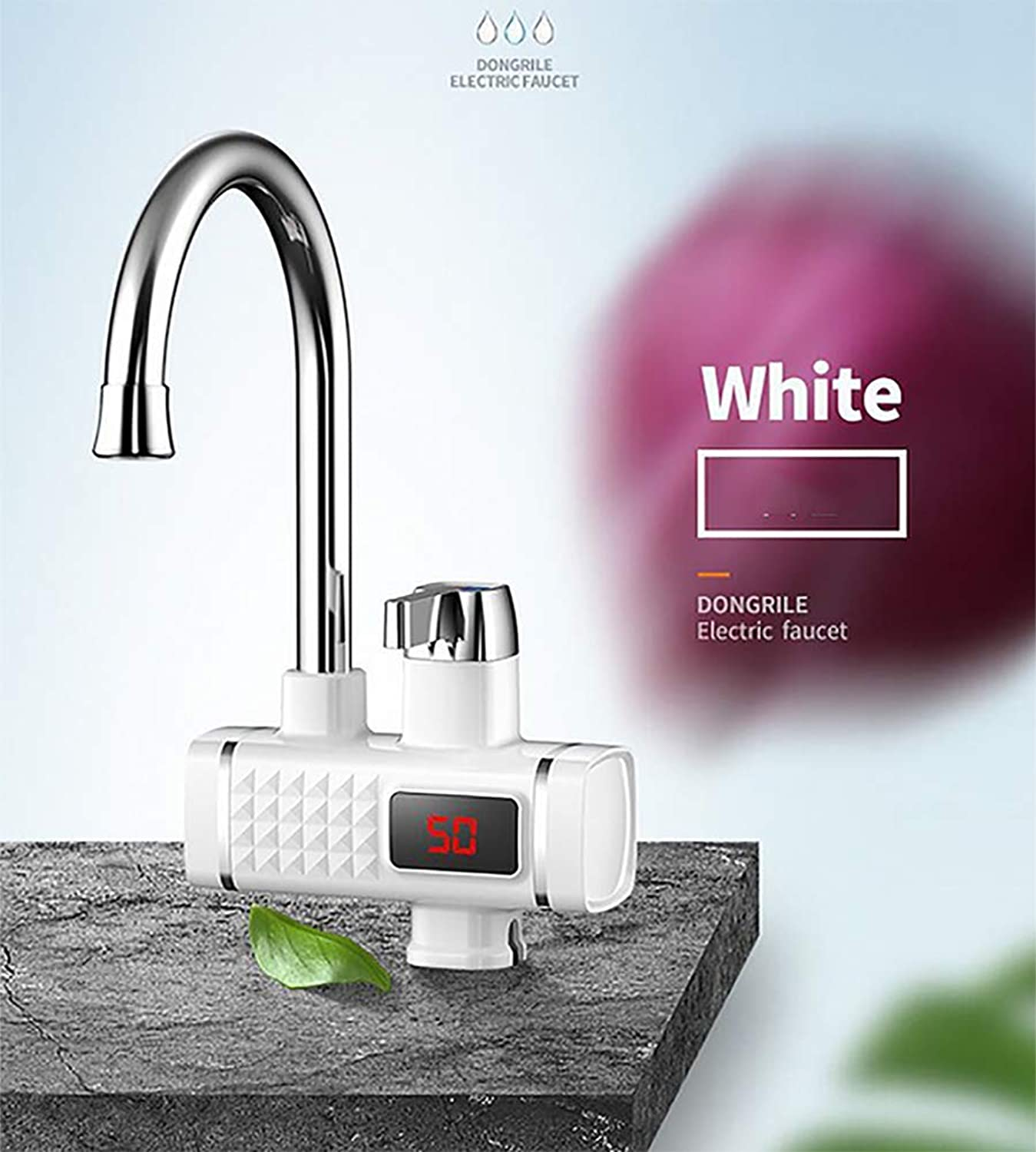 3 Sec Instant Tankless Electric Hot Water Heater Faucet With LED Digital Display,Kitchen And Bathroom Fast Heating Tap Water Faucet.