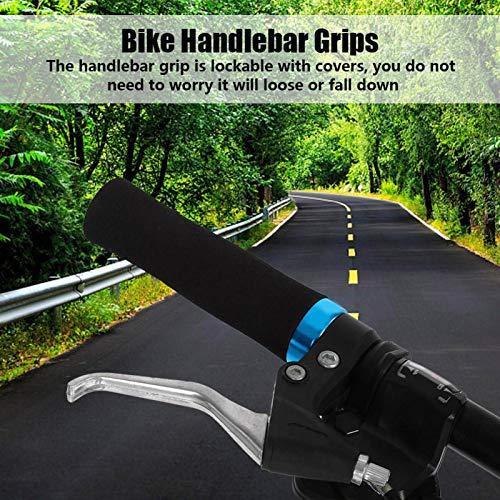 SALUTUYA 1 par de manubrios y Cubiertas Antideslizantes para Manillar de Bicicleta(Red Black Ring)