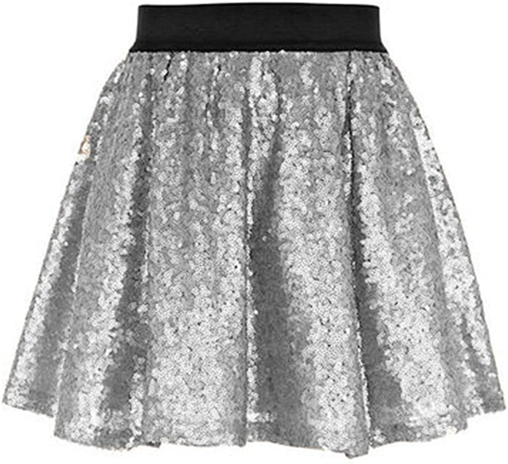 Lisong Women Mini Sequins Club Party Skirt