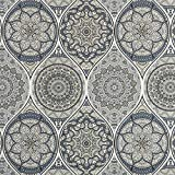 Dekostoff Mandala grau Canvasstoffe Dekorationen Ornamente