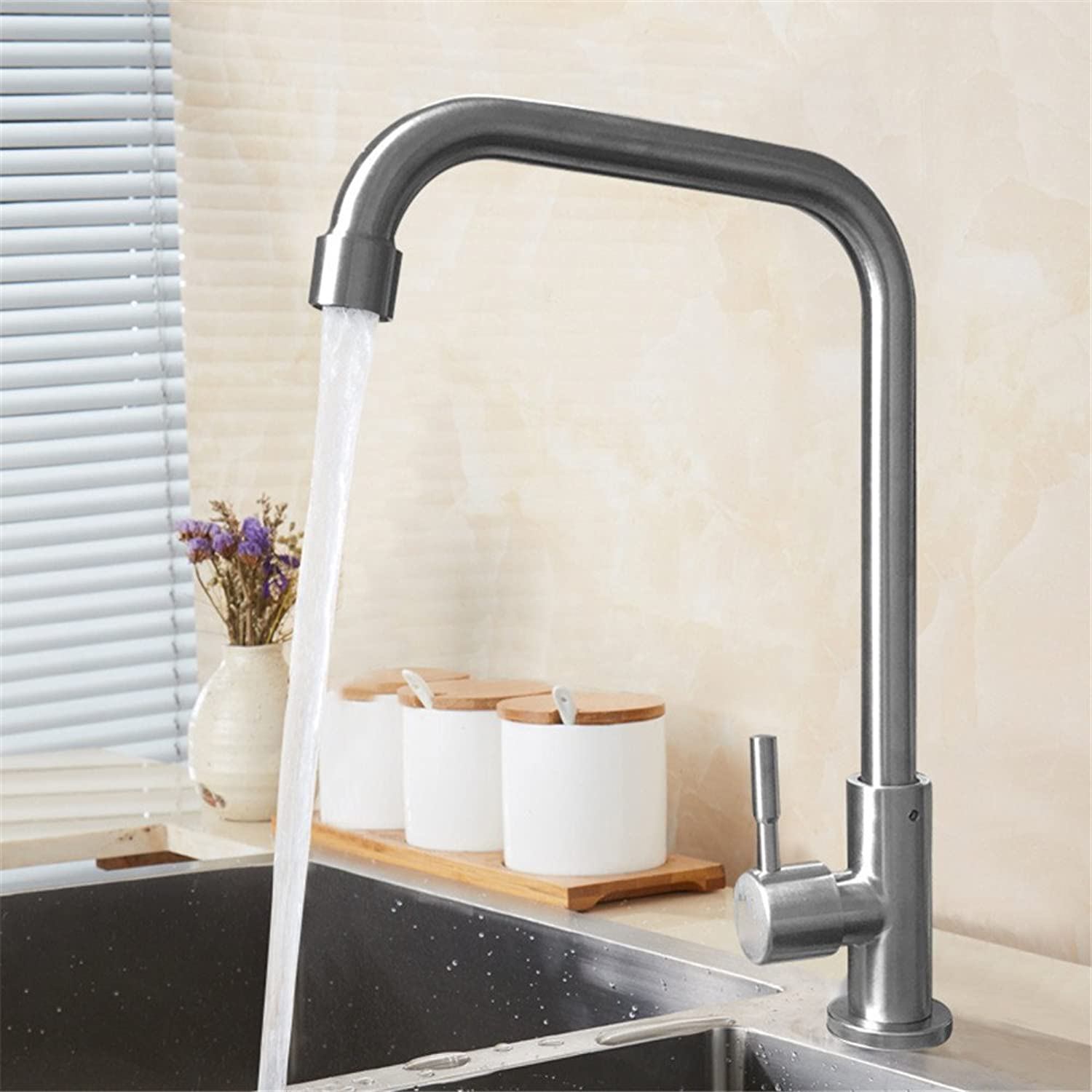 Shenhai Kitchen Faucet Wash Basin redating Sink Dishwasher Faucet, Single Hole Right Angle