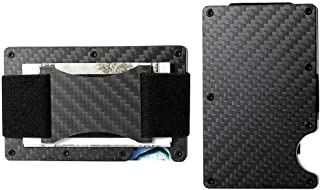Minimalist Aluminum Wallet, Slim Money Clip Metal Wallet RFID Front Pocket Wallet