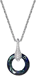 Adisaer Best Friend Necklaces with Stones Sterling Silver Plated Zircon Australia Czwomens Necklace Gift