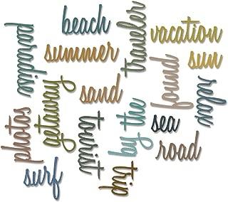 Sizzix 661288 Thinlits Die Set, Vacation Words, Script by Tim Holtz (18/Pack)