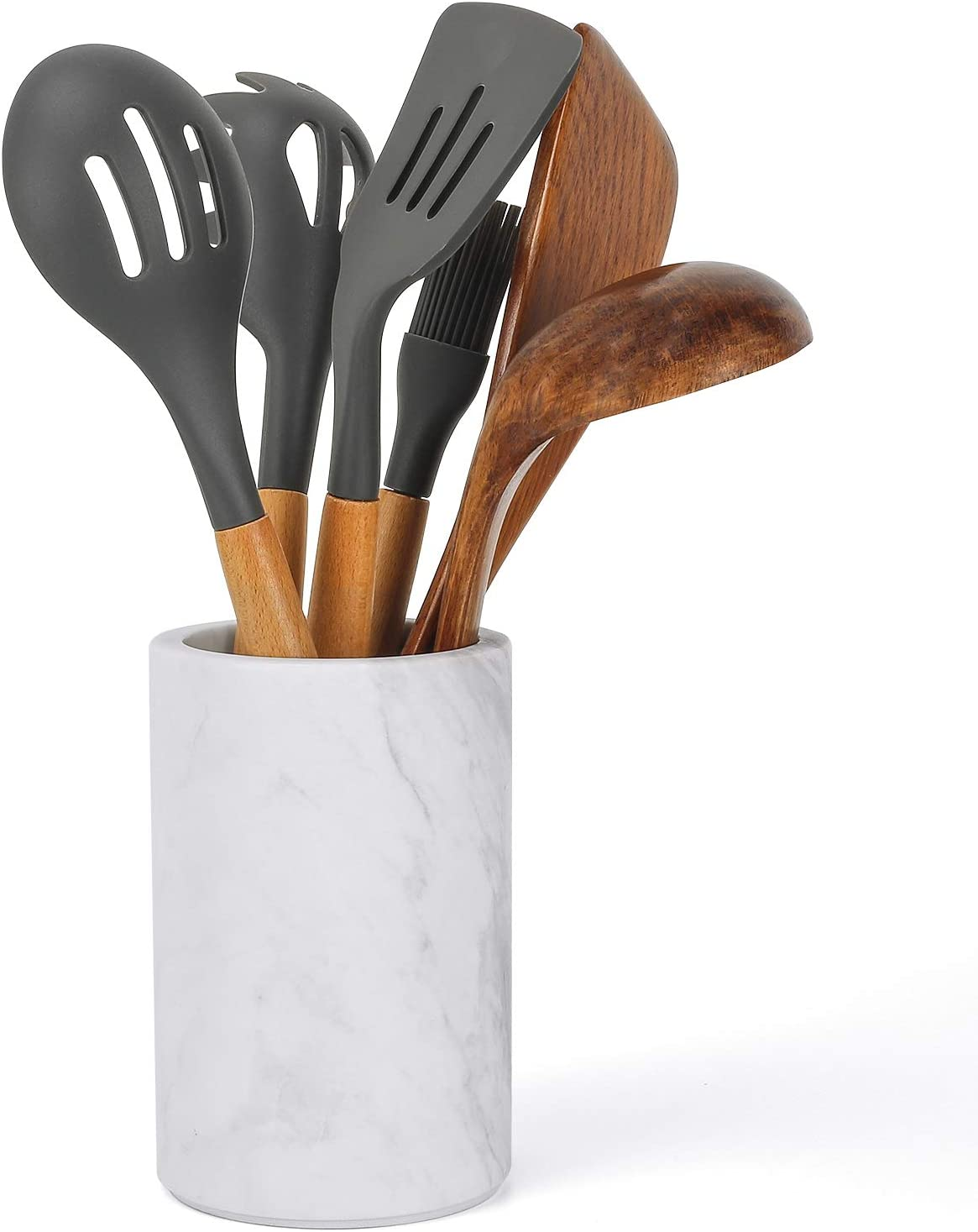 ChasBete Kitchen Utensil Holder for Countertop W Wholesale Natural Our shop most popular Marble