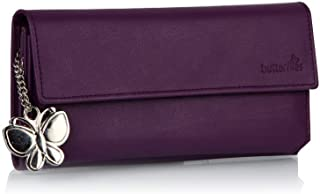 Butterflies Women's Wallet (Purple) (BNS 2055)