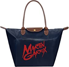 Martin Garrix DJ Waterproof Foldable Tote Bags Shopping Beach Shoulder Handbags Purse Tote Shoulder Bag Navy