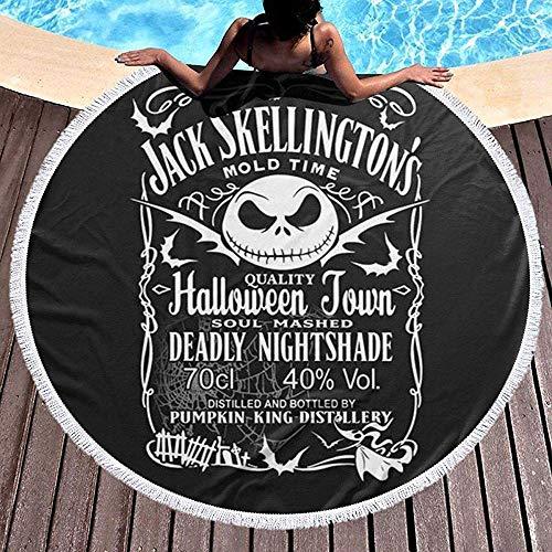 Jack Skellington Daniel 's Ramadan Festival Alfombra Redonda, Toalla de Playa Redonda Estera de Yoga Estera de Playa Estera de Mesa Alfombra de casa Mantón Junto al mar