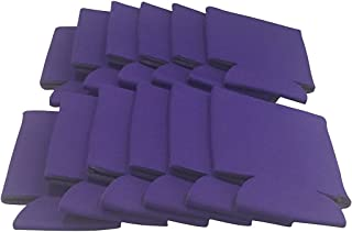 CSBD Beer Can Coolers Koozie Sleeves, Soft Insulated Reusable Drink Caddies for Water Bottles or Soda, Collapsible Blank DIY Customizable for Parties, Events or Weddings, Bulk (25, Purple)