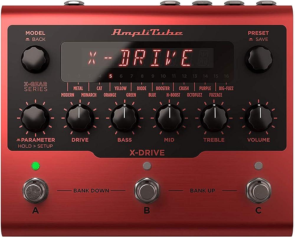 AmpliTube X-DRIVE:フロントパネル