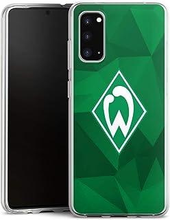 DeinDesign Silikon Hülle kompatibel mit Samsung Galaxy S20 Case transparent Handyhülle SV Werder Bremen Camouflage Offizielles Lizenzprodukt