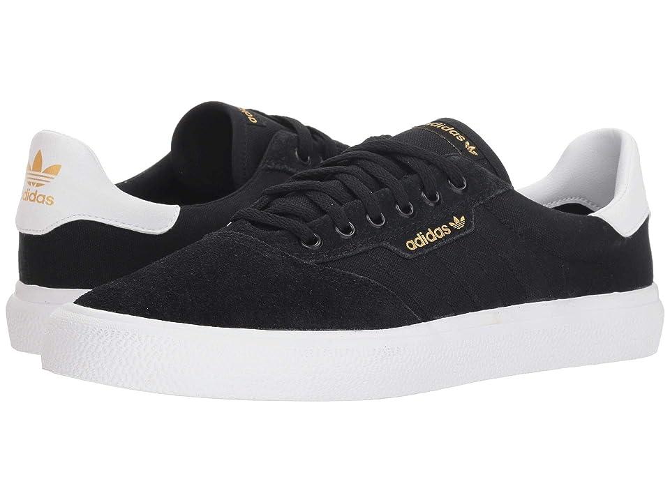 Image of adidas Skateboarding 3MC (Black/White/Black Suede) Men's Skate Shoes