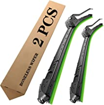 Car Front Window Windshield Wiper Blades 2 pcs (24 inch+24 inch)