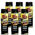 Motip Dupli - Fast Finish Autolack Rallye Spraydose 500ml schwarz glänzend 6 Stück