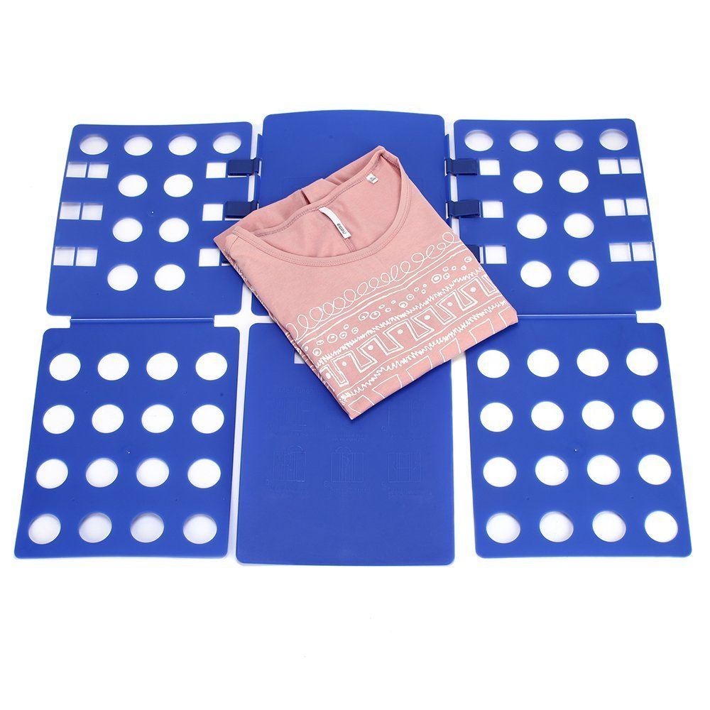 Glield Doblador de Ropa para Camisas Camisetas Pantalones Toallas Polo DYB01 (Azul): Amazon.es: Hogar