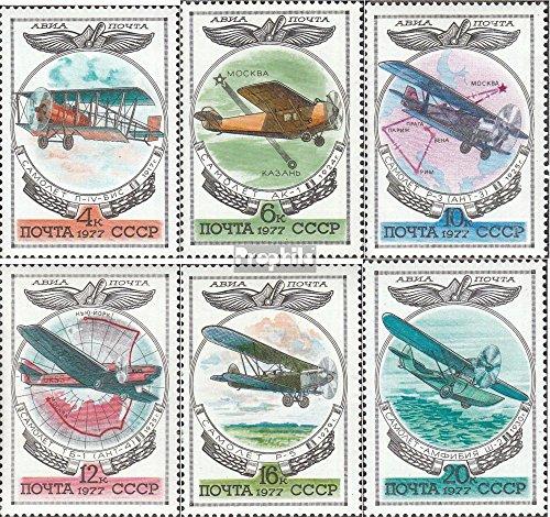 Sovjet-Unie Mi.-Aantal.: 4621-4626 (compleet.Kwestie.) 1977 Geschiedenis van Vliegtuigen (Postzegels voor verzamelaars) luchtvaart