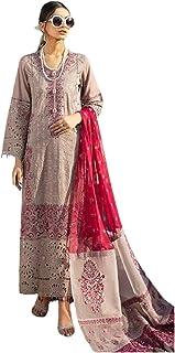 رداء هندي مسلم خفيف بني خفيف تقليدي تقليدي بدلة من القطن الكمبريك الجميل باكستاني فستان بوليوود 6085