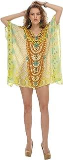 D G PRINTS FAB Women's Turkish Beach Kaftan Beachwear Swimwear Bikini Cover up Maxi Dress
