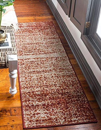 Unique Loom Autumn Collection Casual Rustic Warm Toned Runner Rug, 2 x 6 Feet, Terracotta/Beige