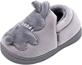 SEXYTOP Family Women Kids Cute Slippers Round Toe Winter Warm Soft Comfortable Anti-Slip Indoor Home Shoes for Girl Boy