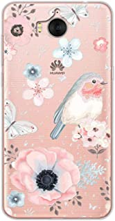 Phone Case Cute Animal Case Fundas for Huawei Y6 2017 Soft Tpu Beauty Flowers 3D Relief Lace Cover for Huawei Y5 2017 Mya-L22 Mya-L03 5.0""