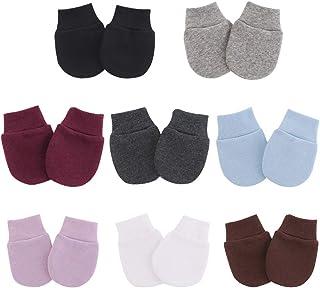 Newborn Infant Baby Boys Mittens Cotton Gloves No Scratch for 0-10 Months Unisex Baby Boys Girls 8-Pair