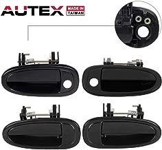 AUTEX 4pcs Exterior Door Handles Front Rear Left Right Driver Side + Passenger Side Compatible with Toyota Avalon 1995 1996 1997 1998 1999 79416 79417 79418 79419