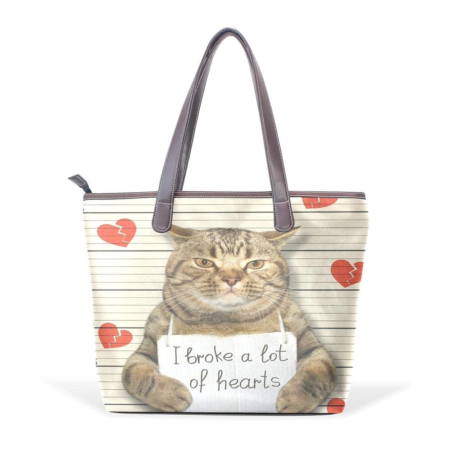 意気込み瞑想ジェスチャーバララ (La Rose) トートバッグ レディース ブランド a4 収納 大容量 通学 かわいい おもしろい ネコ 猫柄 おしゃれ ハンドバッグ PU 革 通勤 丈夫 ファスナー付き ママかばん 手提げバッグ ビジネスバッグ