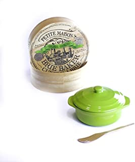 Wildly Delicious Petite Maison Brie Cheese Baker in Green Apple