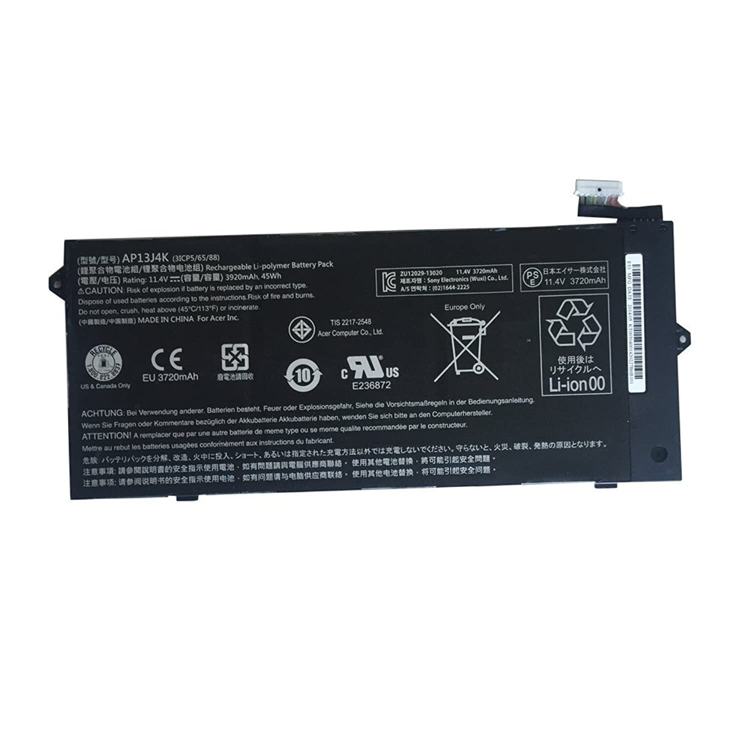 FLIW AP13J4K Replacement Battery Compatible with Acer Chromebook C720 C720P C740 KT00304001 (11.4V 45Wh)