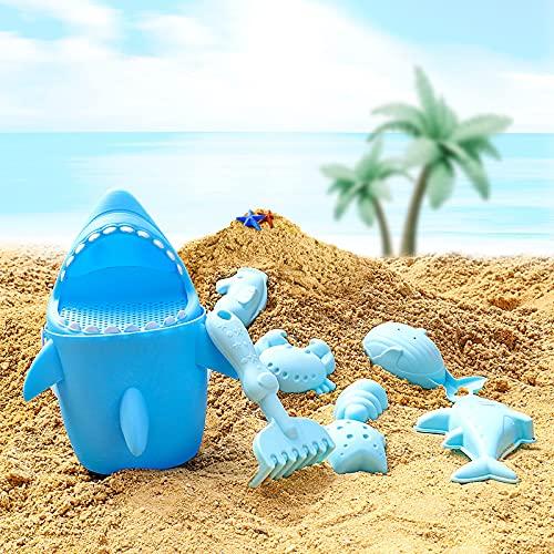 SuSenGo Juego de Juguetes de Playa 9 Piezas, Adecuado para Juegos Infantiles al Aire Libre