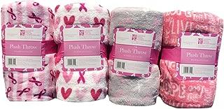 Breast Cancer Plush Throw 50