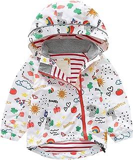 Blouson Veste /à Capuche Gar/çon Enfants Minces Manteau de Dinosaures D/ét/é Vestes DExt/érieur B/éb/é V/êtementsde Protection Solaire Fermeture /éclair Automne Coupe-Vent Blanc 90 cm